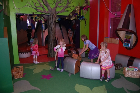 Interactive installations at the Discover Children's Story Centre, London (Image: Playing by the book)