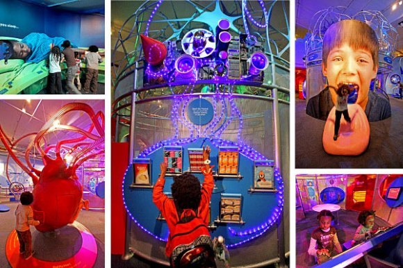 The 'EatSleepPlay' exhibition which featured around 70 interactive exhibits at Children's Museum of Manhattan (Image: New York Times)